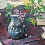 Jim_Kinne_Still_Life_vase_with_grapes_arizona_artists_guild