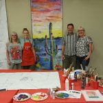 Anne Osgood, Amy DeCaussin, Gerard Guarino and Wendy Raisanen - banner painters extraordinaire!!
